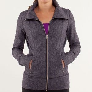 Lululemon Daily Yoga Jacket in Herringbone, Size 6